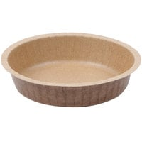 Solut 91088 10 oz. Kraft Paper Baking Cup with Flange and Quick Release Coating - 50/Pack