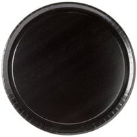 Solut 74553 13 inch Take and Bake Coated Paperboard Black Oven Safe Pizza Tray   - 10/Pack