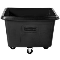 Rubbermaid FG461400BLA Black 14 Cu. Ft. Bulk Cube Truck (500 lb.)