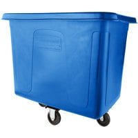 Rubbermaid FG461200DBLUE Dark Blue 12 Cu. Ft. Bulk Cube Truck (400 lb.)