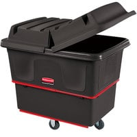 Rubbermaid FG470800BLA Black 8 Cu. Ft. Utility Cube Truck (700 lb.)