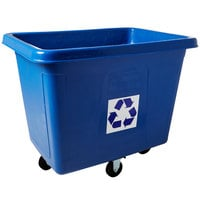 Rubbermaid FG461673BLUE 16 Cu. Ft. Recycling Cube Truck (500 lb.)