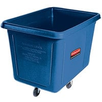 Rubbermaid FG460800DBLUE Dark Blue 8 Cu. Ft. Bulk Cube Truck (300 lb.)
