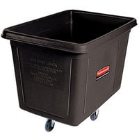 Rubbermaid FG461900BLA Black 20 Cu. Ft. Bulk Cube Truck (600 lb.)