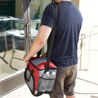 Choice Insulated Leakproof Cooler Bag / Soft Cooler, Red 12 inch x 9 inch x 11 1/2 inch, with Adjustable Shoulder Strap
