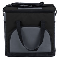 Choice Insulated Leakproof Cooler Bag / Soft Cooler, Black 12 inch x 9 inch x 11 1/2 inch, with Adjustable Shoulder Strap