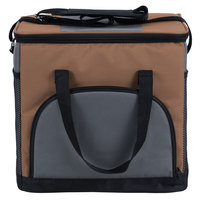 Choice Insulated Leakproof Cooler Bag / Soft Cooler, Brown 12 inch x 9 inch x 11 1/2 inch, with Adjustable Shoulder Strap