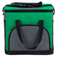 Choice Insulated Leakproof Cooler Bag / Soft Cooler, Green 12 inch x 9 inch x 11 1/2 inch, with Adjustable Shoulder Strap