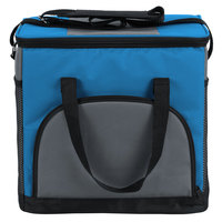Choice Insulated Leakproof Cooler Bag / Soft Cooler, Blue 12 inch x 9 inch x 11 1/2 inch, with Adjustable Shoulder Strap
