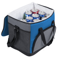 Choice Insulated Leak Proof Cooler Bag / Soft Cooler, Blue 12 inch x 9 inch x 11 1/2 inch, with Adjustable Shoulder Strap