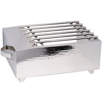 Eastern Tabletop 3264HG Hammered Stainless Steel Single Butane Stove Cover-Up