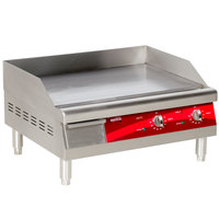 Avantco EG24N 24 inch Electric Countertop Griddle - 208/240V, 2675W-3560W