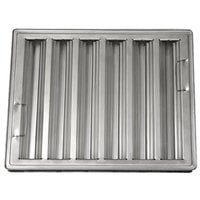All Points 26-1776 20 inch(H) x 25 inch(W) x 2 inch(T) Stainless Steel Hood Filter - Ridged Baffles