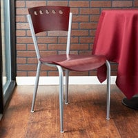 Lancaster Table & Seating Mahogany Finish Cafe Chair
