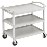 Cambro BC340KDLP Speckled Gray Low Profile Utility Cart (Unassembled) - 40 inch x 22 inch x 33 1/4 inch