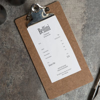 Menu Solutions CLIPCHECK-HB 5 inch x 9 inch Menu Clipboard / Check Presenter, Single Panel Dark Brown