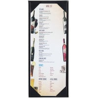 Menu Solutions K111BA BK The Kearny Series 4 1/4 inch x 11 inch Single Panel / Double-Sided Black Menu Board