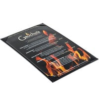 Menu Solutions K111D BK The Kearny Series 8 1/2 inch x 14 inch Single Panel / Double-Sided Black Menu Board
