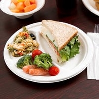 EcoChoice Biodegradable, Compostable Sugarcane / Bagasse 9 inch Plate 3 Compartment - 500/Case