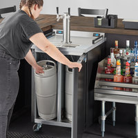 Beverage-Air DZ24-1-B Double Tap Dual Zone Kegerator Beer Dispenser - Black, (4) 1/6 Keg Capacity