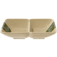 GET 037-TD Japanese Traditional 1 oz. Two Compartment Sauce Dish 4 inch x 3 inch - 24/Case
