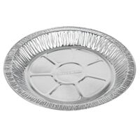 Baker's Mark 9 inch x 1 inch Medium Depth Foil Pie Pan   - 100/Pack