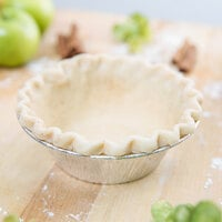 Baker's Mark 5 3/4 inch x 1 3/4 inch Extra Deep Foil Pie Pan - 100/Pack