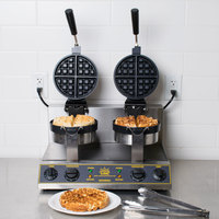 Carnival King WBM26 Non-Stick Double Belgian Waffle Maker with Timers - 120V