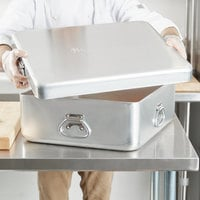 Vollrath 68392 Wear-Ever 14 Qt. Aluminum Roasting Pan with Handles - 21 5/8 inch x 18 1/8 inch x 2 3/8 inch