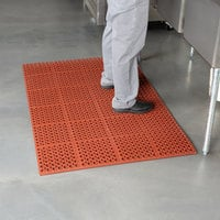 Cactus Mat 2520-R1S VIP Deluxe 58 1/2 inch x 39 inch Red Grease-Resistant, Anti-Fatigue, Anti-Slip Floor Mat - 7/8 inch Thick