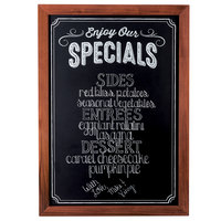Cal-Mil 3031-2435 Chalkboard Sign with Pre-Printed Header Enjoy Our Specials - 27 1/2 inch x 37 1/2 inch