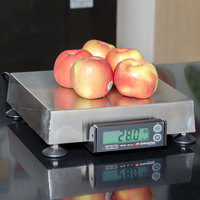Cardinal Detecto APS160 160 oz. Point of Sale Scale with 10 inch x 10 inch Platform, Legal for Trade