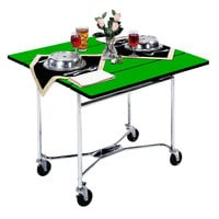 Lakeside 413GS Mobile Square Top Room Service Table with Green Finish - 36 inch x 36 inch x 30 inch