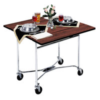 Lakeside 413RM Mobile Square Top Room Service Table with Red Maple Finish - 36 inch x 36 inch x 30 inch