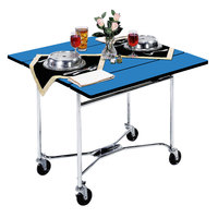 Lakeside 413HRM Mobile Square Top Room Service Table with Royal Blue Finish - 36 inch x 36 inch x 30 inch