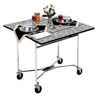 Lakeside 413VC Mobile Square Top Room Service Table with Gray Sand Finish - 36 inch x 36 inch x 30 inch