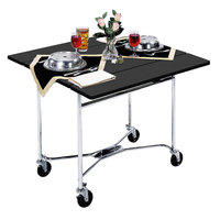 Lakeside 413B Mobile Square Top Room Service Table with Black Finish - 36 inch x 36 inch x 30 inch