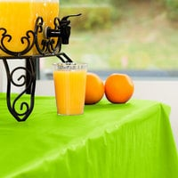 Creative Converting 763123 100' Fresh Lime Green Disposable Plastic Table Cover