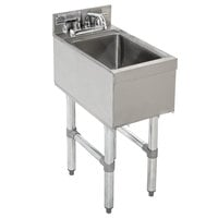 Advance Tabco CR-HS-12 Stainless Steel Underbar Hand Sink with Deck Mount Faucet - 12 inch x 21 inch