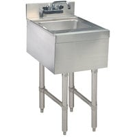 Advance Tabco SL-HS-15 Stainless Steel Underbar Hand Sink with Splash Mount Faucet - 15 inch x 18 inch