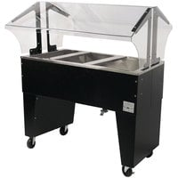 Advance Tabco B3-CPU-B Three Well Everyday Buffet Ice-Cooled Table with Open Base - Open Well