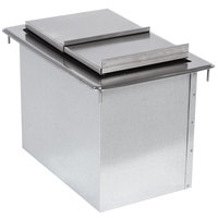 Advance Tabco D-36-IBL Stainless Steel Drop-In Ice Bin - 33 inch x 18 inch