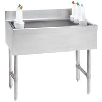 Advance Tabco CRI-16-36-7 Stainless Steel Underbar Ice Bin with 7-Circuit Cold Plate - 36 inch x 21 inch