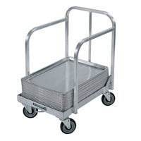 Lakeside 631 Aluminum Sheet Pan Dolly with Sides, Handle, and 5 inch Casters