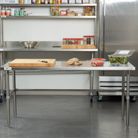 Regency 30 inch x 72 inch 16-Gauge 304 Stainless Steel Commercial Open Base Work Table