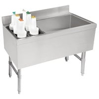 Advance Tabco CRCI-48R Stainless Steel Ice Bin and Storage Rack Combo - 48 inch x 21 inch (Right Side Ice Bin)