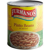 Furmano's #10 Can Pinto Beans - 6/Case