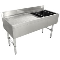 Advance Tabco CRW-4R-7 Stainless Steel Ice Bin and Drainboard Combo Unit with 7-Circuit Cold Plate - 48 inch x 21 inch (Right Side Ice Bin)