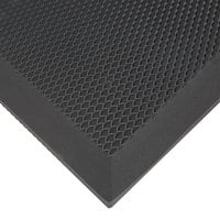 Cactus Mat 2200-23 VIP Black Cloud 2' x 3' Black Grease-Proof Rubber Floor Mat - 3/4 inch Thick
