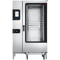 Convotherm C4ET20.20GS Natural Gas Full Size Roll-In Boilerless Combi Oven with easyTouch Controls - 218,400 BTU
